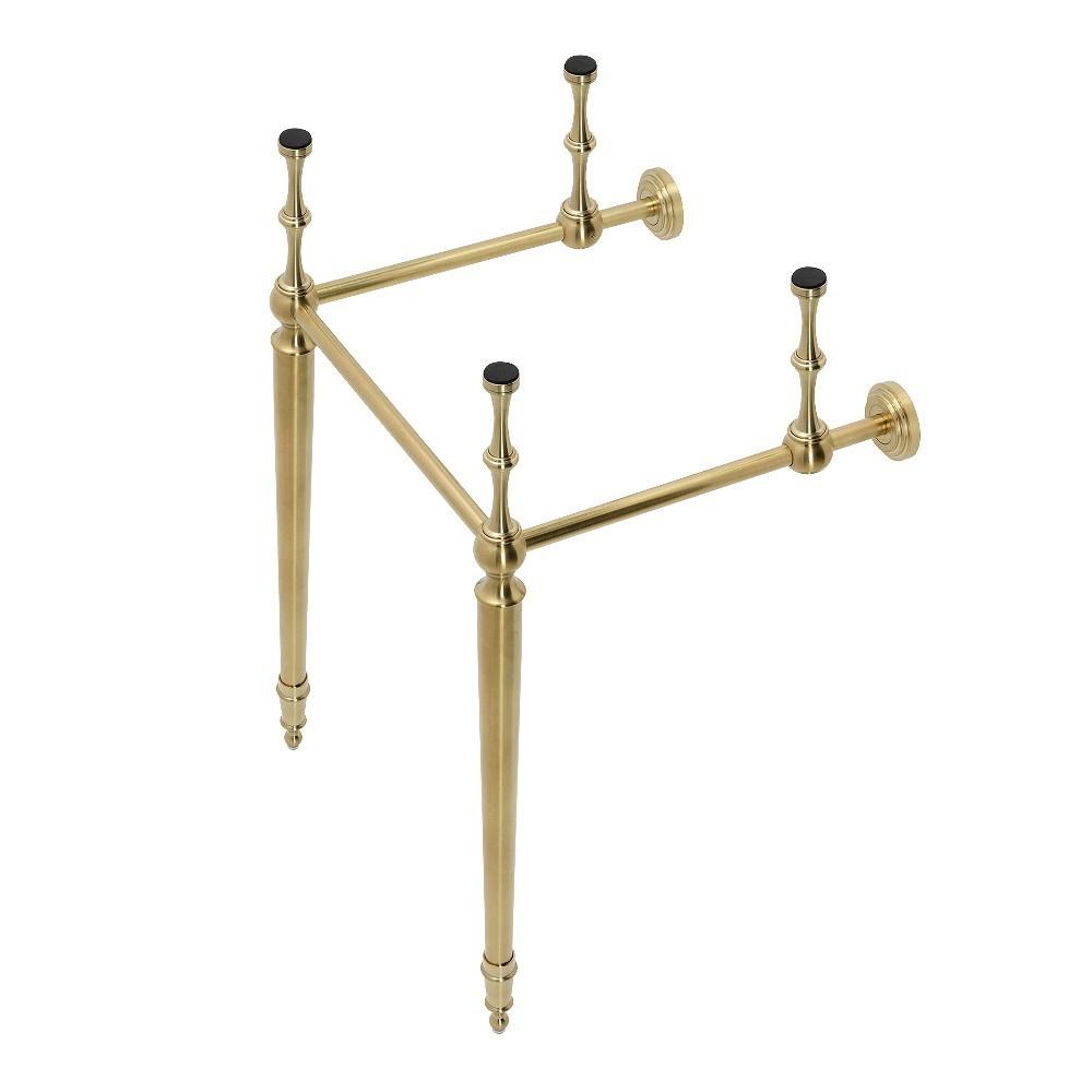 Edwardian Brass Console Sink Legs, Brushed Brass