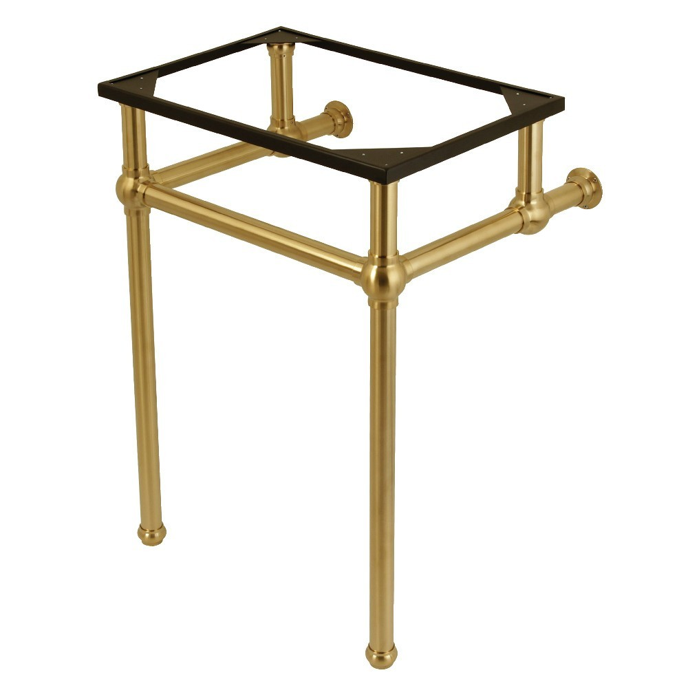 Templeton 24-Inch x 20-3/8-Inch x 33-3/16-Inch Brass Console Sink Legs, Brushed Brass