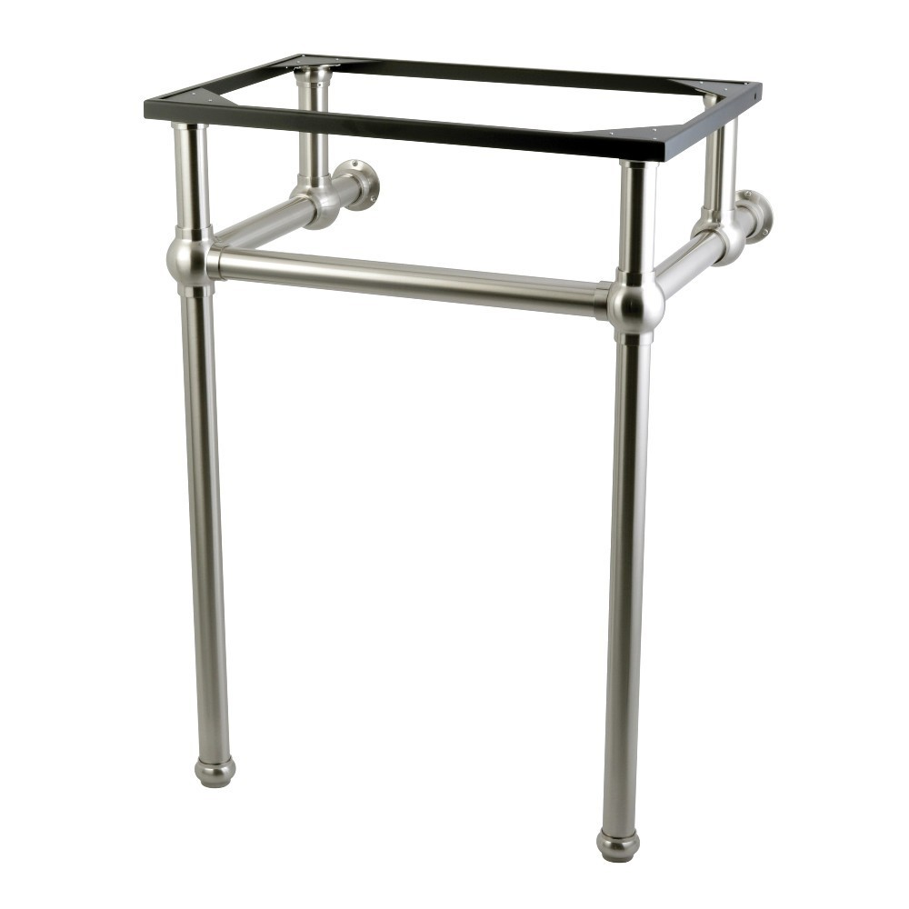 Templeton 24-Inch x 20-3/8-Inch x 33-3/16-Inch Brass Console Sink Legs, Brushed Nickel