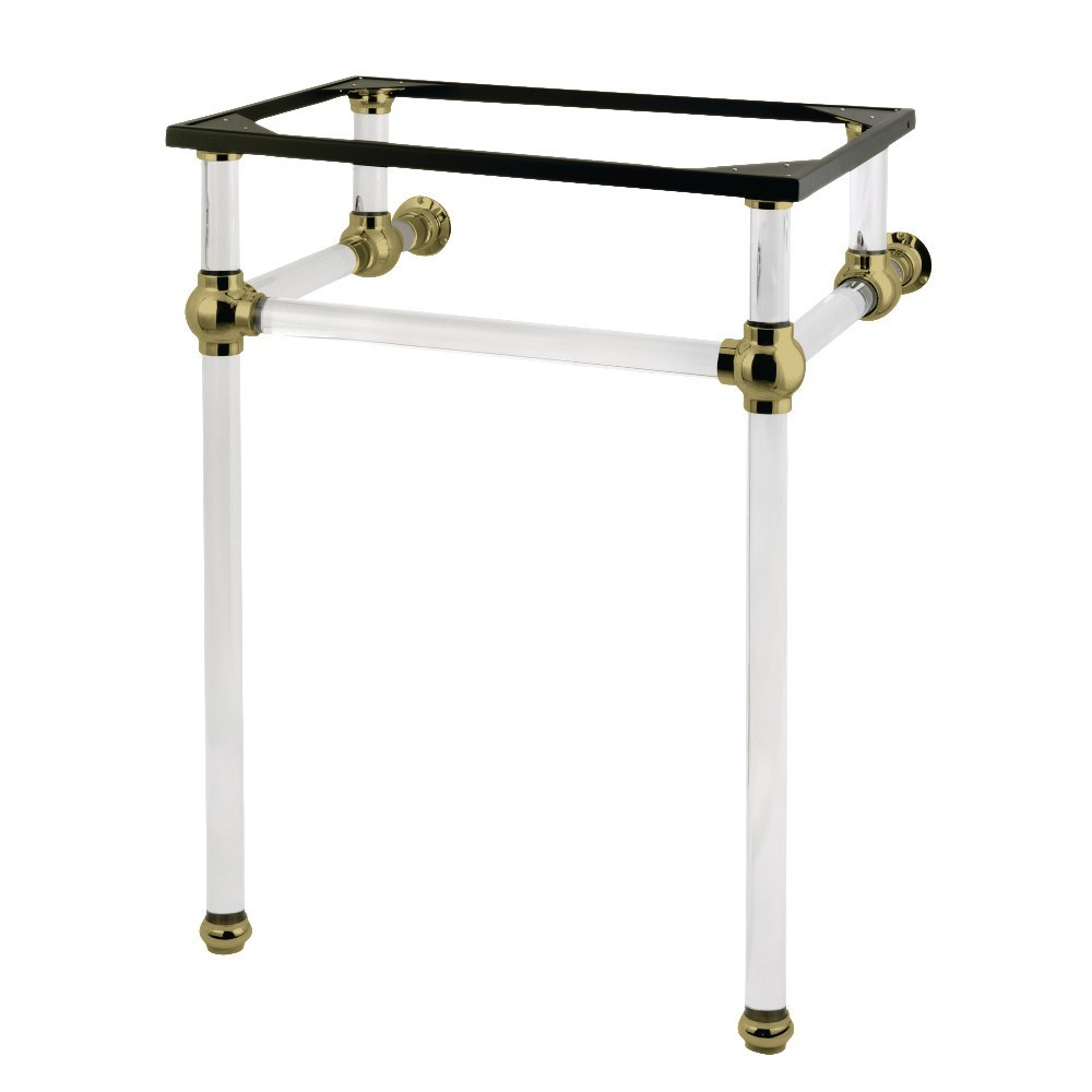 Templeton 24-Inch x 20-3/8-Inch x 33-3/16-Inch Acrylic Console Sink Legs, Brushed Brass