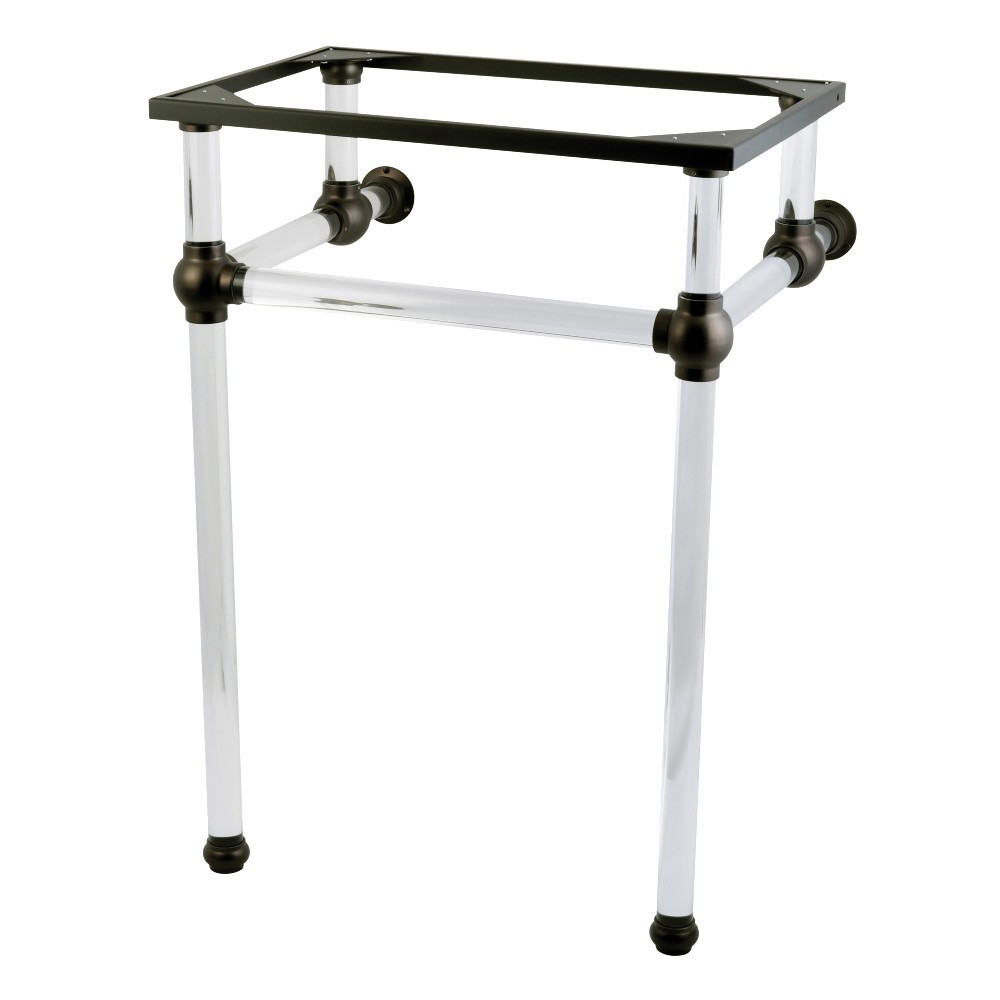 Templeton 24-Inch x 20-3/8-Inch x 33-3/16-Inch Acrylic Console Sink Legs, Oil Rubbed Bronze