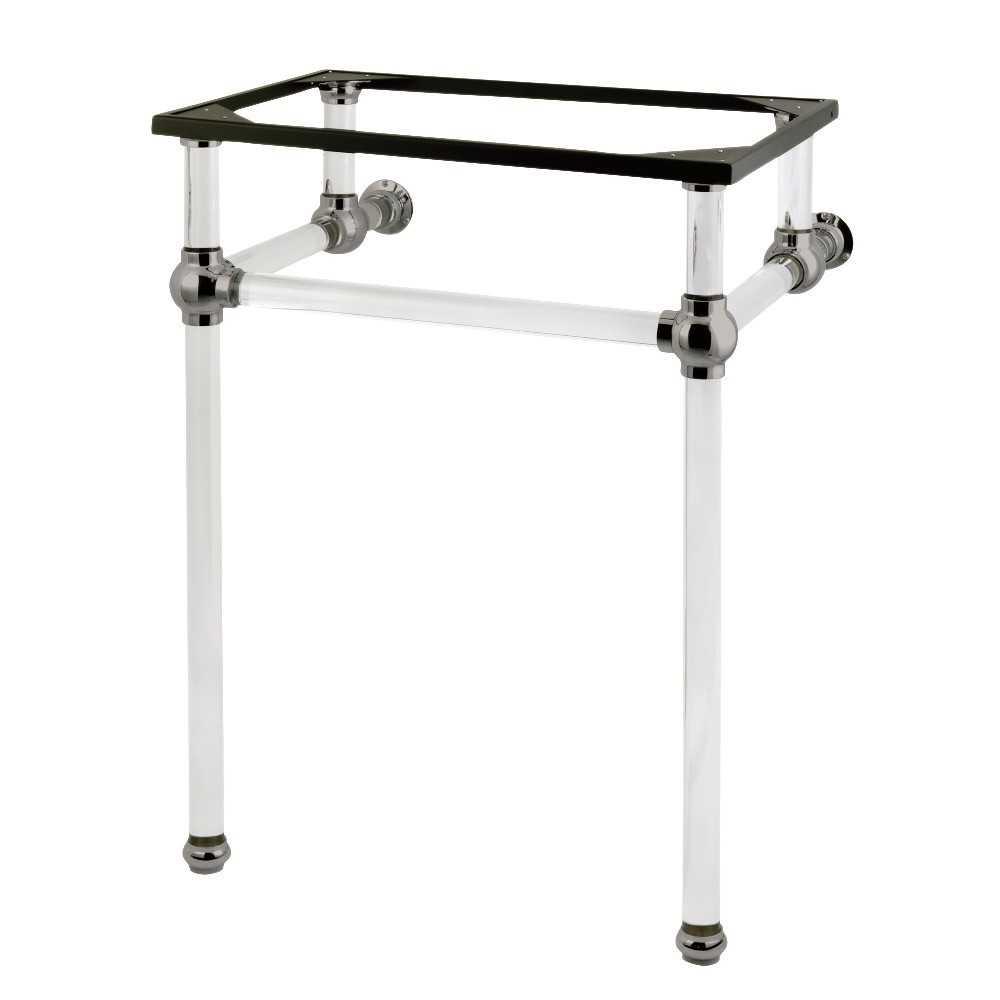 Templeton 24-Inch x 20-3/8-Inch x 33-3/16-Inch Acrylic Console Sink Legs, Brushed Nickel