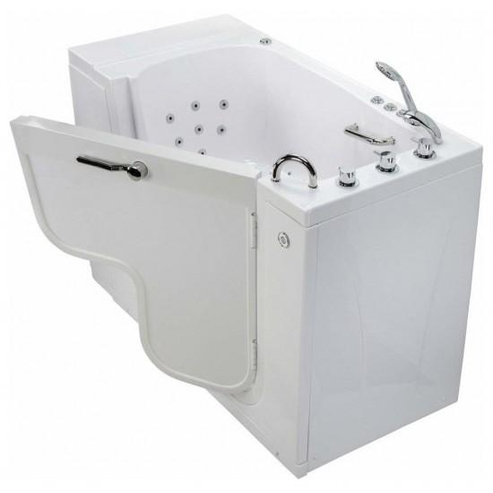 """Dual Massage, Digital Control Walk-In Bathtub, Right 2"""" Dual Drain"""