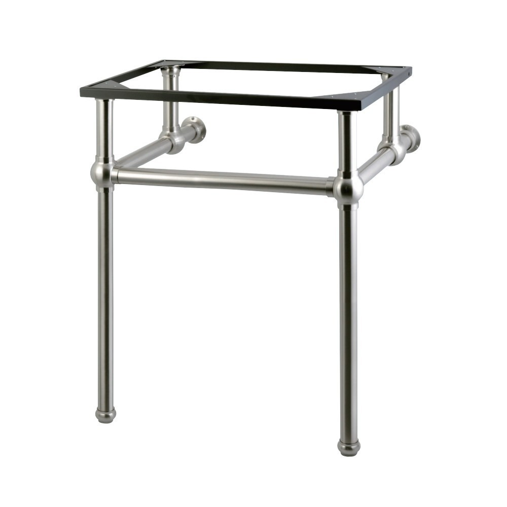 Templeton 24-Inch x 20-3/8-Inch x 30-Inch Brass Console Sink Legs, Brushed Nickel