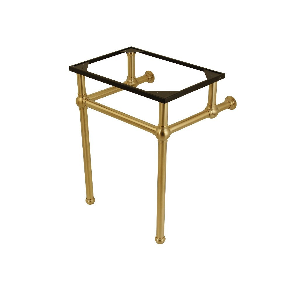 Templeton 24-Inch x 20-3/8-Inch x 30-Inch Brass Console Sink Legs, Brushed Brass