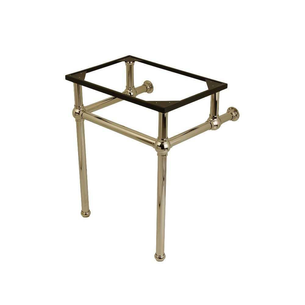 Templeton 24-Inch x 20-3/8-Inch x 30-Inch Brass Console Sink Legs, Polished Nickel