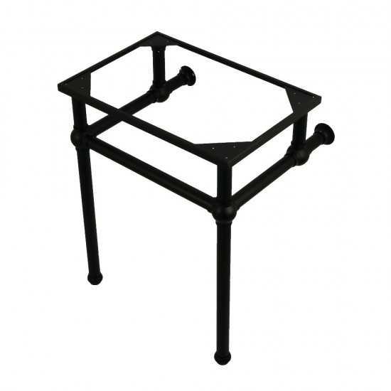 Templeton 24-Inch x 20-3/8-Inch x 30-Inch Brass Console Sink Legs, Matte Black