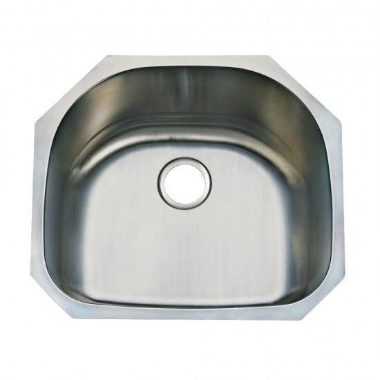 Undermount Single Bowl Kitchen Sink, Brushed