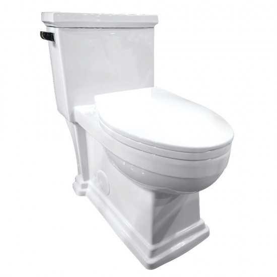 Kingston Brass  Victorian One-Piece 1.28 GPF Single Flush Elongated Toilet, White