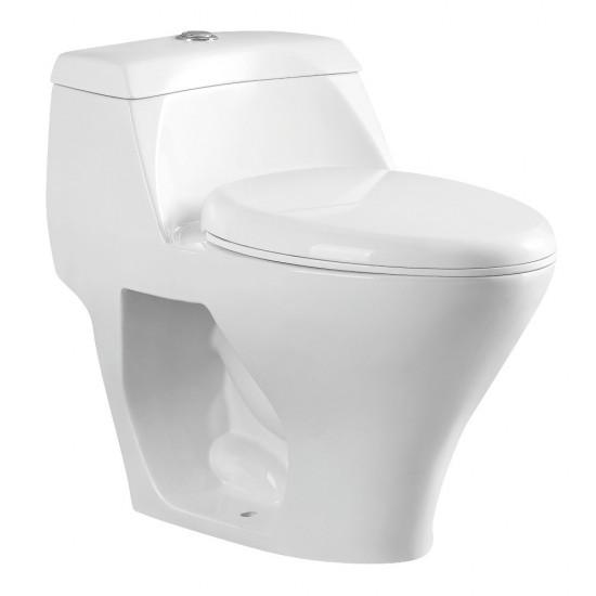 Kingston Brass  One-Piece Elongated Dual Flush Toilet, White