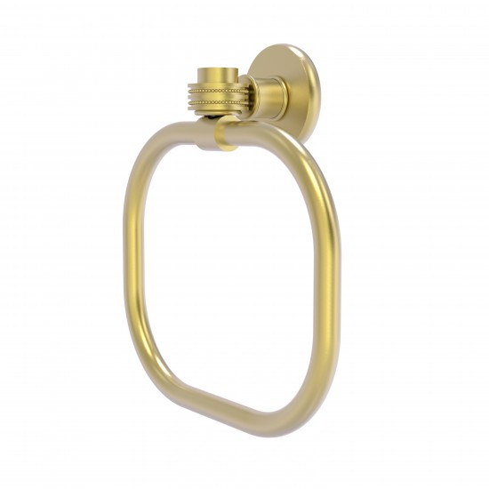 Allied Brass Continental Collection Towel Ring with Dotted Accents