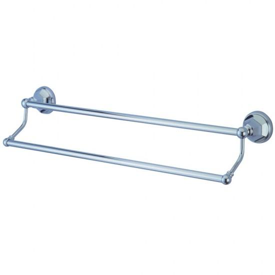 Kingston Brass  Metropolitan 18-Inch Dual Towel Bar, Polished Chrome