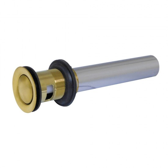Kingston Brass KB8108 Push Pop-Up Drain with Overflow, Brushed Brass