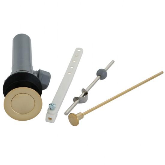 Kingston Brass  Plastic Pop-Up Drain with Overflow, Polished Brass