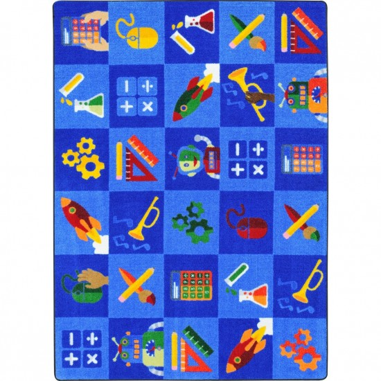 """STEAM into Learning 10'9"""" x 13'2"""" area rug in color Multi"""