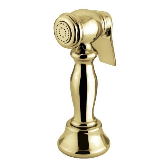 Kingston Brass  Vintage Kitchen Faucet Side Sprayer, Polished Brass
