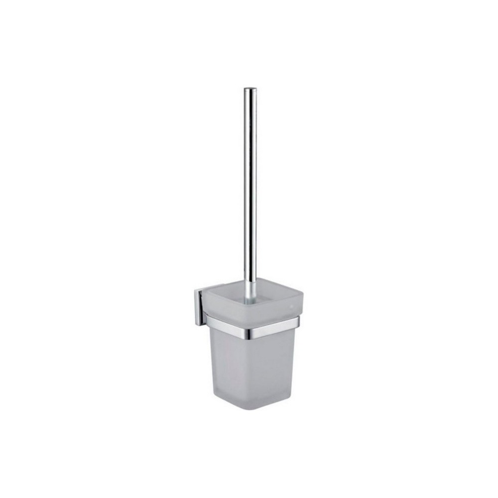 Aqua Nuon Toilet Brush with Frosted Glass Cup