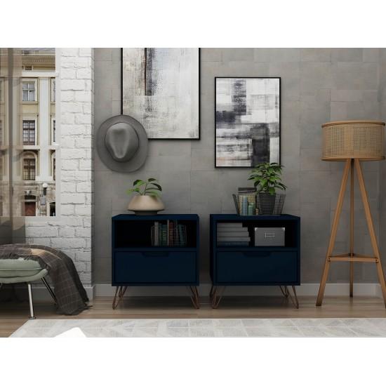Rockefeller Nightstand 1.0 - Set of 2 in Tatiana Midnight Blue
