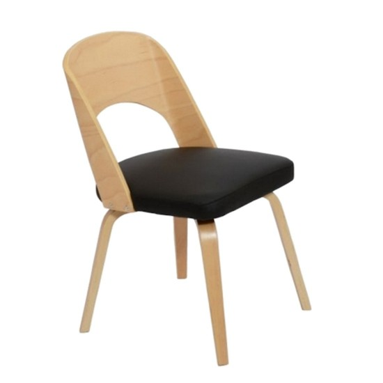 Fine Mod Imports Bendino Dining Chair, Black