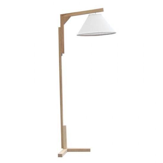 Fine Mod Imports Spiral Floor Lamp, Natural