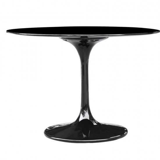 "Fine Mod Imports Flower Table 36"", Black"