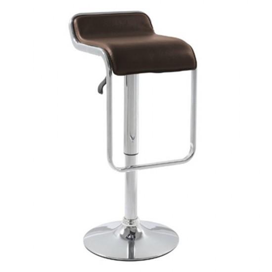 Fine Mod Imports Flat Bar Stool Chair, Brown