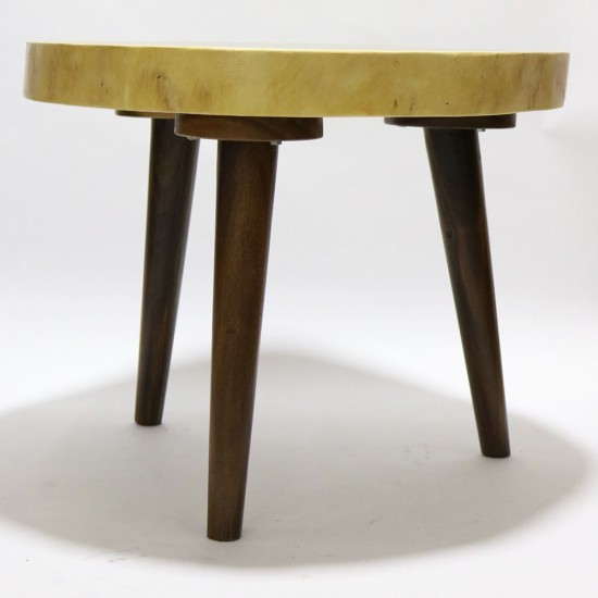 Fine Mod Imports Block End Coffee Table Solid Wood, Walnut