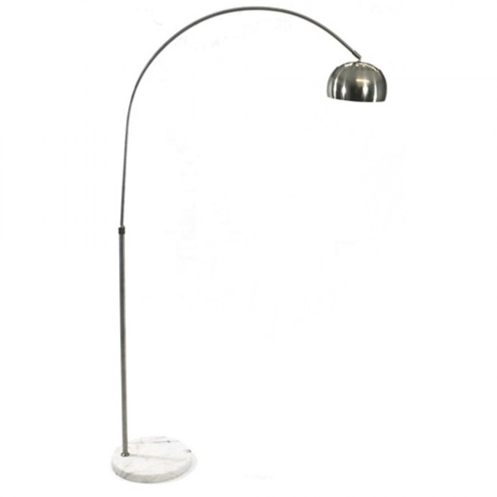 Fine Mod Imports Arco Coster Lamp, White