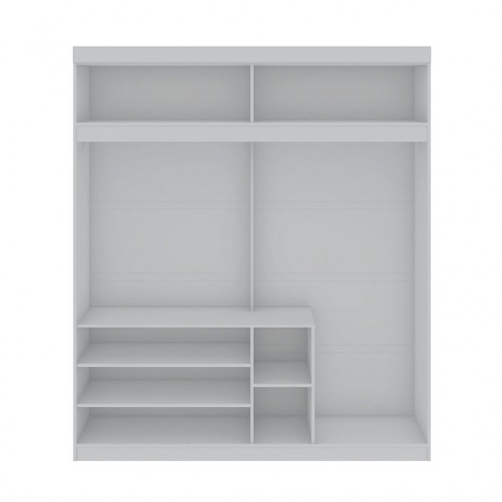 Mulberry 81.3 Open Long Hanging Wardrobe Closet in White