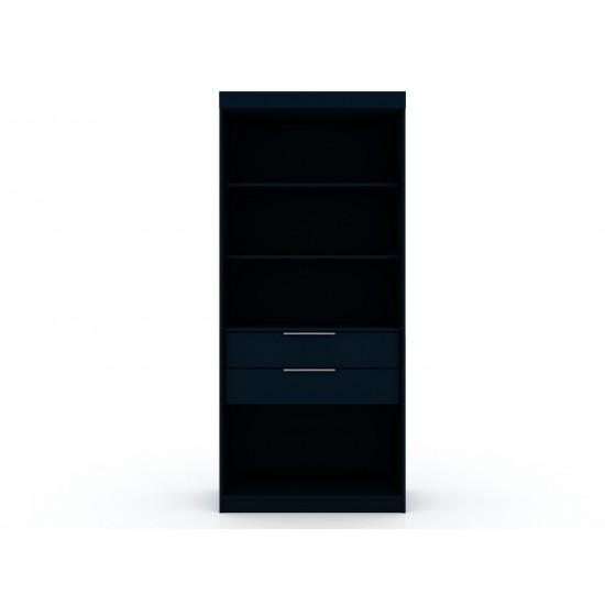 Mulberry Open 1 Sectional Closet in Tatiana Midnight Blue