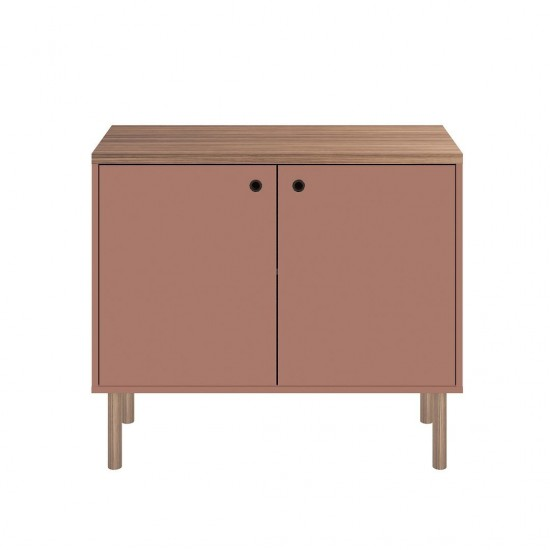 Windsor 35.43 Accent Cabinet in Ceramic Pink and Nature