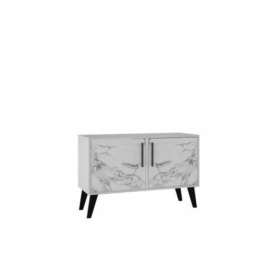 Amsterdam Double Side Table 2.0 in White Marble