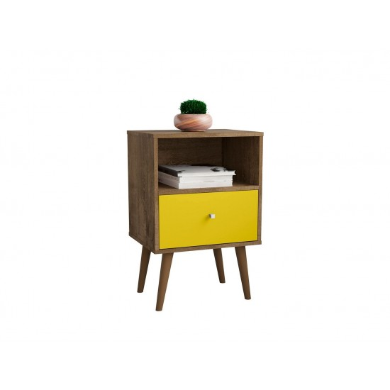 Liberty Nightstand 1.0 in Rustic Brown and Yellow