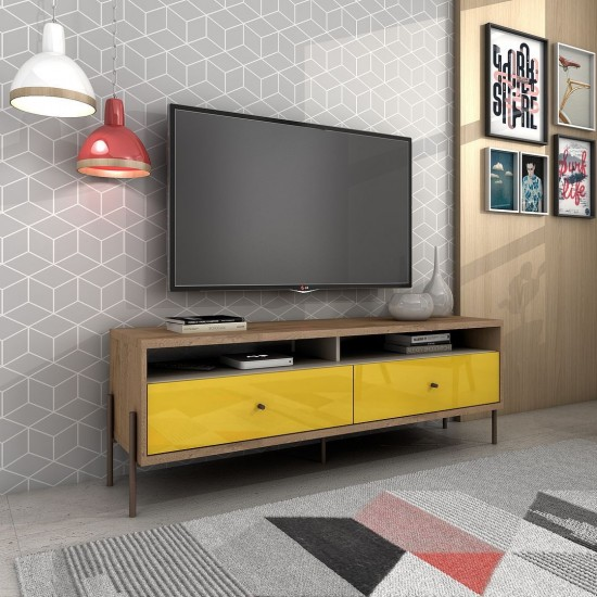 """Joy 59"""" TV Stand in Yellow"""