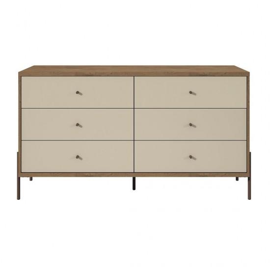 """Joy 59"""" Double Dresser in Off White"""