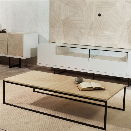 Celine Coffee Table in Nude Mosaic Wood