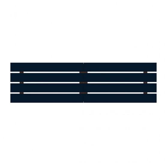 Rockefeller 106.69 Headboard in Tatiana Midnight Blue