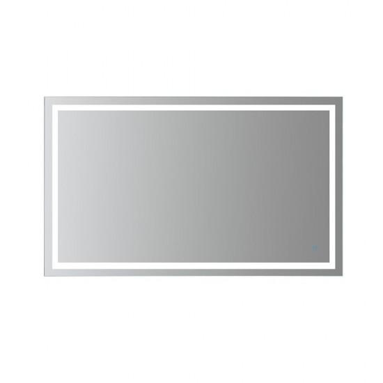 60x36 Frameless Rectangular LED Bathroom Vanity Mirror, Memory Dimmer, Defogger