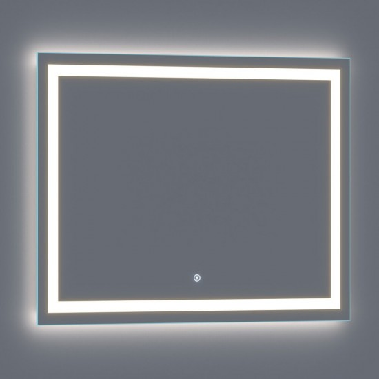 Lumina 48 x 36 LED Lighted Vanity Mirror Built-In Dimmer and Anti-Fog Feature