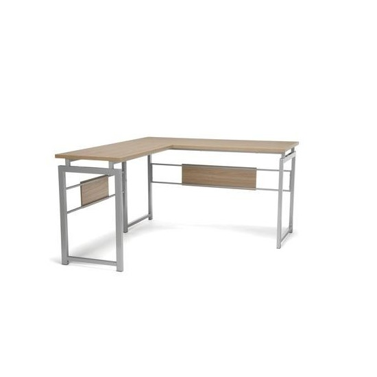 Essentials by OFM ESS-1020 L Desk with Metal Legs