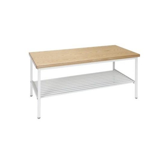 OFM 161 Collection Industrial Modern Wood Top/Metal Frame Coffee Table with Metal Shelf (161-CT210)
