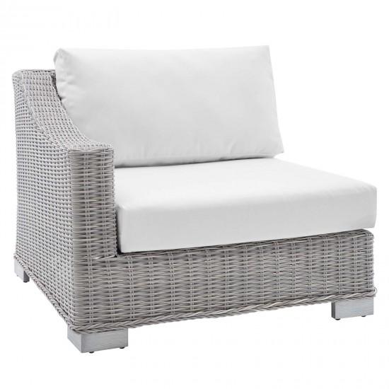 Conway Sunbrella® Outdoor Patio Wicker Rattan Left-Arm Chair