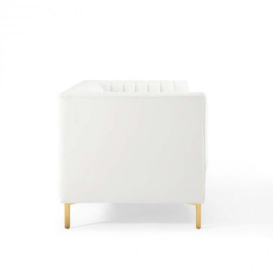 "ALFI brand AB36TR 36"" White Above Mount Porcelain Bath Trough Sink"