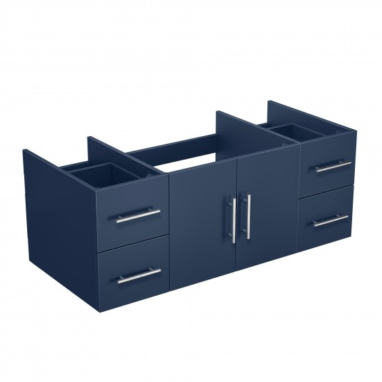 "Geneva 48"" Navy Blue Vanity Cabinet Only"