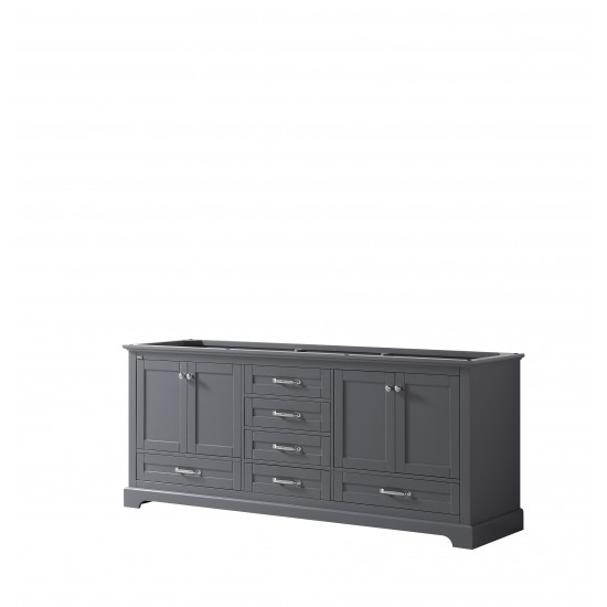 "Dukes 80"" Dark Grey Vanity Cabinet Only"