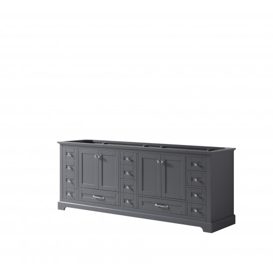 "Dukes 84"" Dark Grey Vanity Cabinet Only"