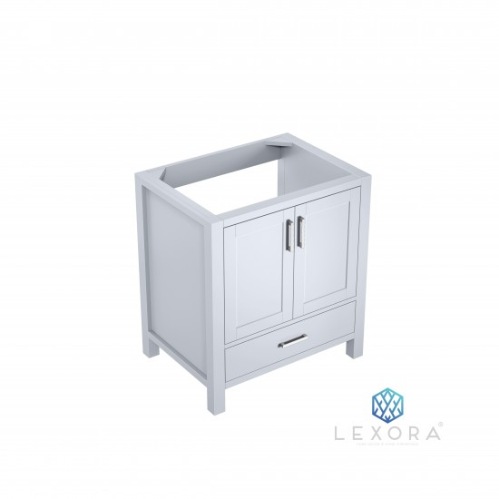 """Jacques 30"""" White Vanity Cabinet Only"""