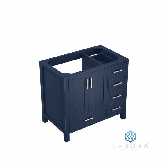 """Jacques 36"""" Navy Blue Vanity Cabinet Only - Left Version"""