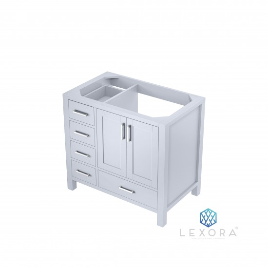 """Jacques 36"""" White Vanity Cabinet Only - Right Version"""