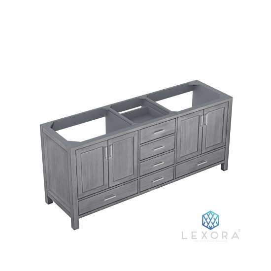 """Jacques 72"""" Distressed Grey Vanity Cabinet Only"""